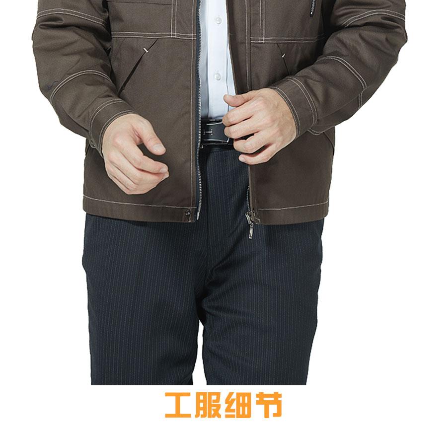 纯棉棕色新款长袖工服
