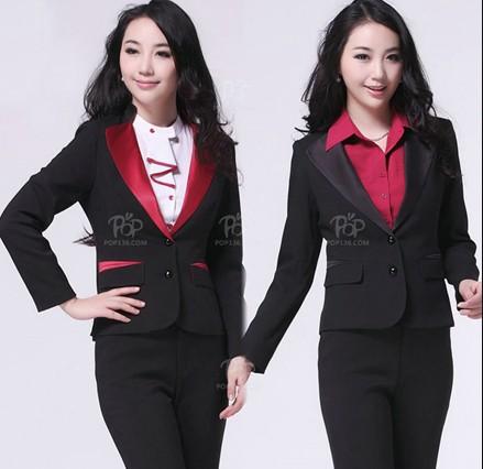酒店服务员工作服的着装-定做服务员工作服