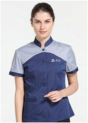 工作服上为何要绣花或印花-订做员工工服